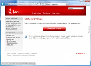 Click - Verify Java Version