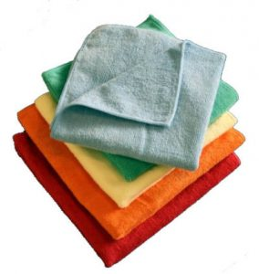 Microfiber cloths are great cleaning cloths!